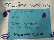 Plakat zur Schul-Aktion Moving Waters