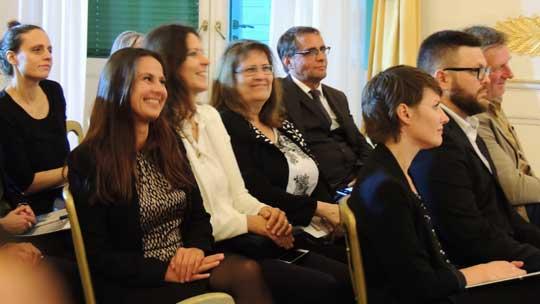 Publikum bei der Preisverleihung