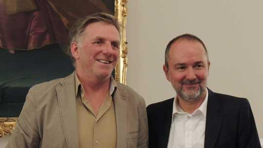 Herr Wimmer mit Bundesminister Drozda