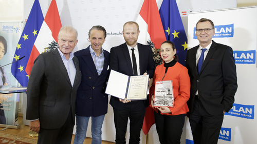 Rudi Klausnitzer, Christian Rainer, Christoph Zotter, BM Ines Stilling und Thomas Kralineger (c) BKA / Andy Wenzel