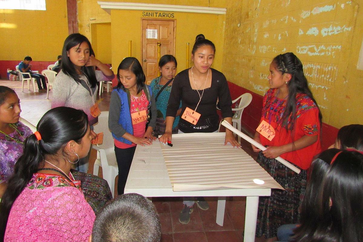 """Workshop im Rahmen des Projekts """"Mädchennetzwerke"""" in Guatemala"""